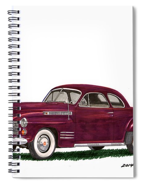 Cadillac 62 Coupe Spiral Notebook