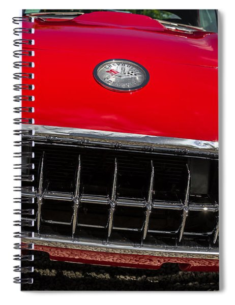 1958 Chevrolet Corvette Grille Spiral Notebook