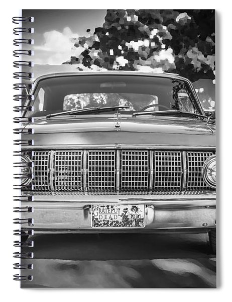 1964 Lincoln Continental Convertible Bw Spiral Notebook