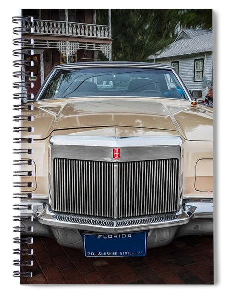 1971 Lincoln Continental Mark IIi Painted  Spiral Notebook