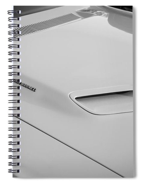 1972 Dodge 340 Challenger Painted Bw  Spiral Notebook