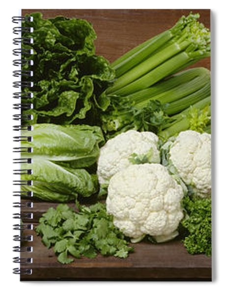 Agriculture - Mixed Vegetables Spiral Notebook
