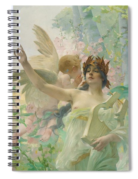 Allegory Of Music Spiral Notebook