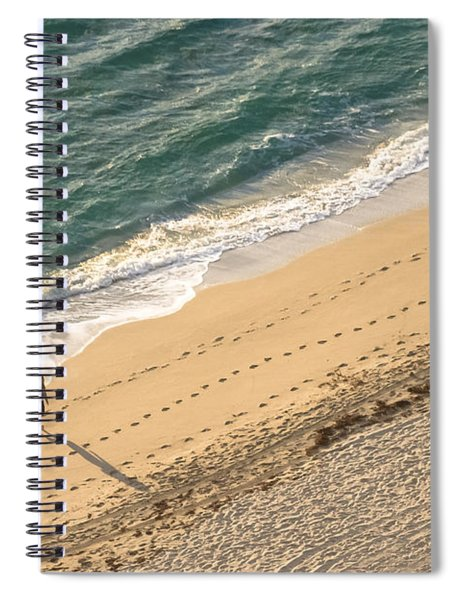 Spiral Notebook featuring the photograph Alone by Ed Gleichman