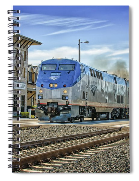 Spiral Notebook featuring the photograph Amtrak 112 by Jim Thompson