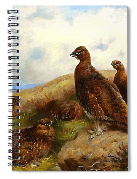 Red Grouse Spiral Notebook