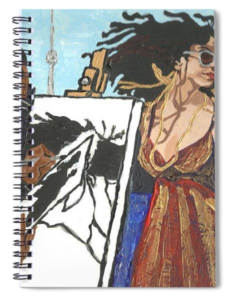Artist At Work Spiral Notebook