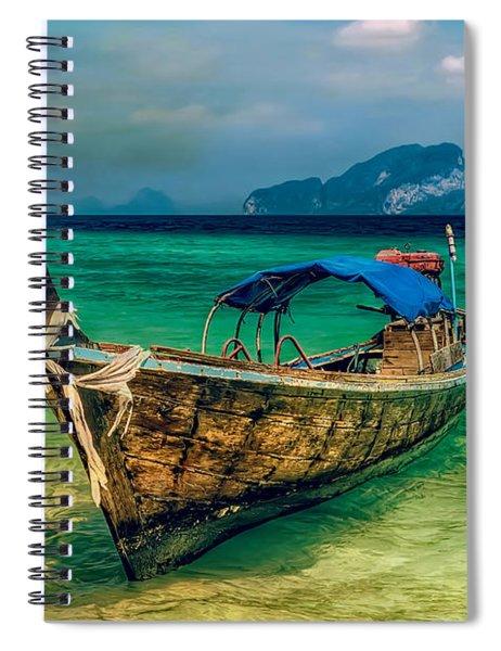Asian Longboat Spiral Notebook