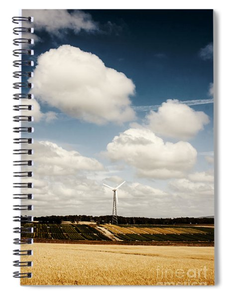 Autumn Landscape Of A Sustainable Tasmanian Farm Spiral Notebook
