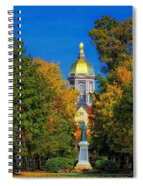 Autumn On The Campus Of Notre Dame Spiral Notebook