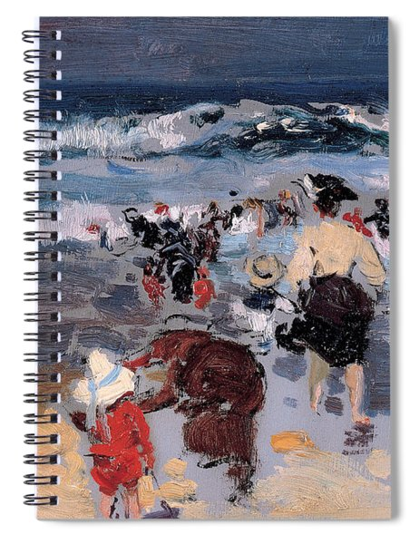 Beach At Biarritz Spiral Notebook