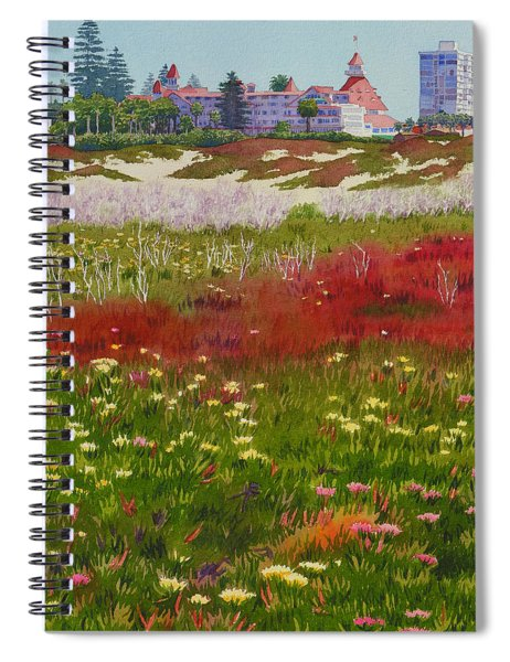 Beach Flowers At The Del Spiral Notebook