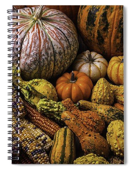 Beautiful Autumn Harvest Spiral Notebook