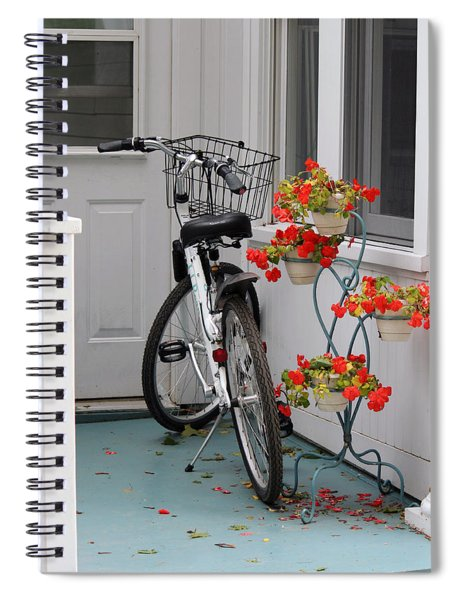 Bicycles And Geraniums Spiral Notebook