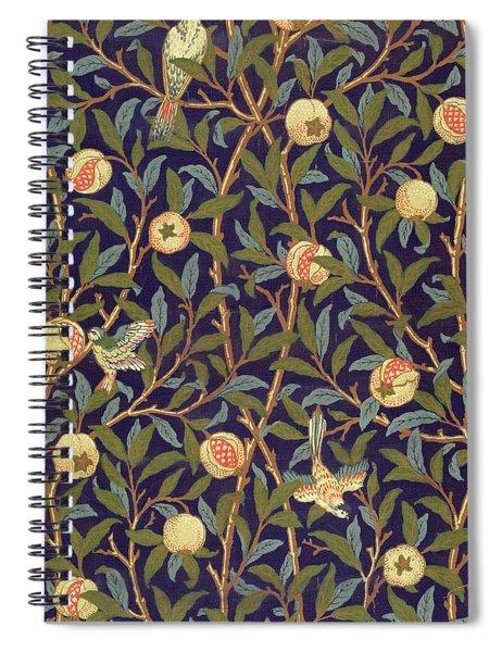 Bird And Pomegranate Spiral Notebook
