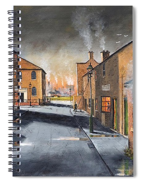 Black Country Village From The Boat Yard Spiral Notebook