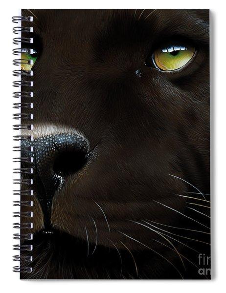 Black Leopard Spiral Notebook