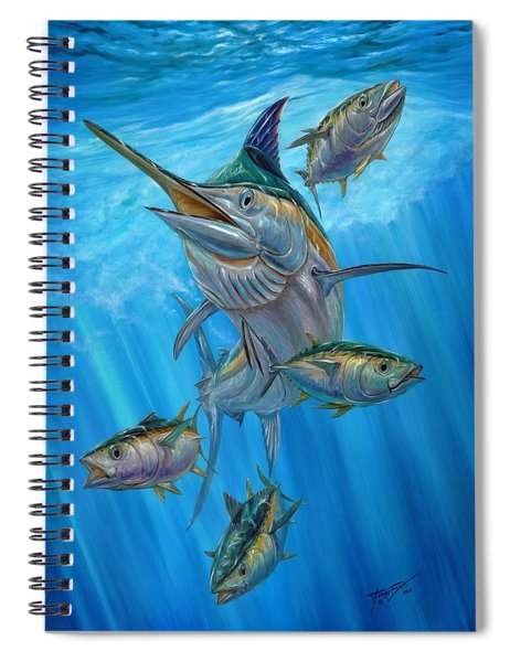 Black Marlin And Albacore Spiral Notebook