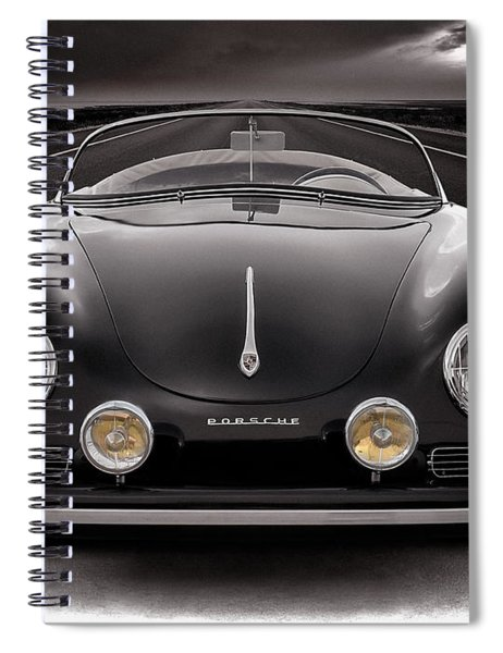 Black Porsche Speedster Spiral Notebook