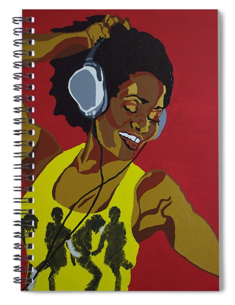 Blame It On The Boogie Spiral Notebook
