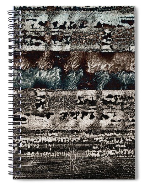 Blue And Black Textures Spiral Notebook