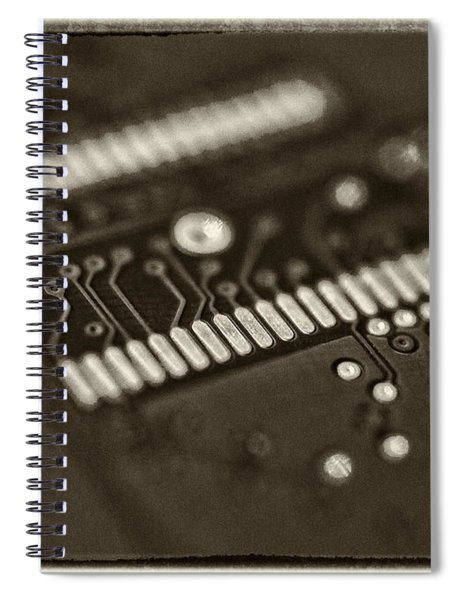Blue Hard Drive Spiral Notebook