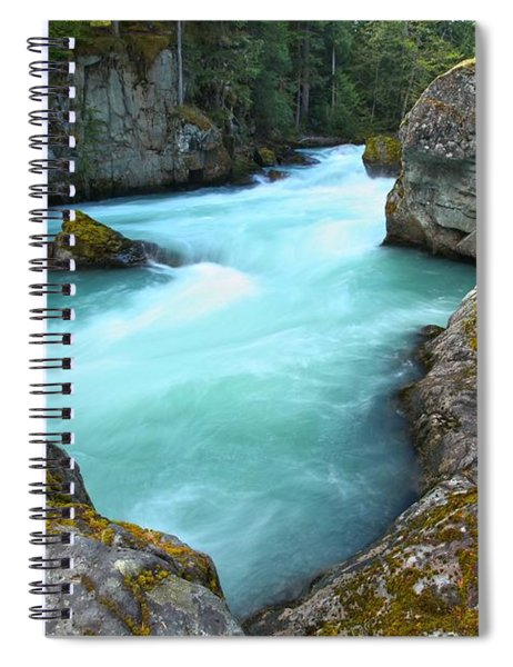 Blue Waters Of The Cheakamus River Spiral Notebook