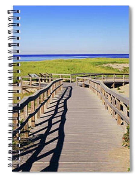Boardwalk Leading Towards Old Harbor Spiral Notebook