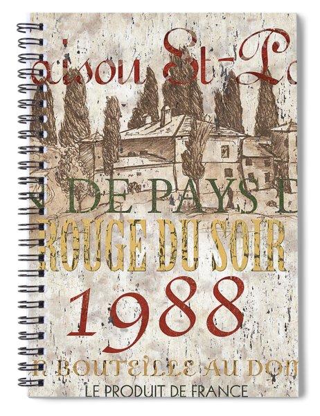 Bordeaux Blanc Label 1 Spiral Notebook