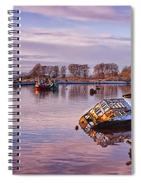 Bowling Harbour Panorama 02 Spiral Notebook