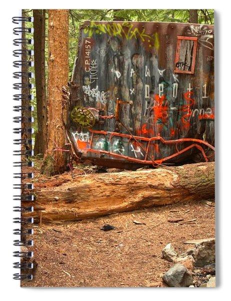 Box Car Graffiti Spiral Notebook
