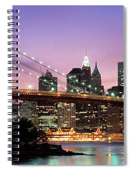 Brooklyn Bridge New York Ny Usa Spiral Notebook