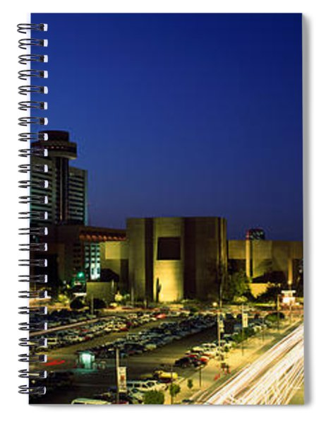 Buildings In A City Lit Up At Night Spiral Notebook