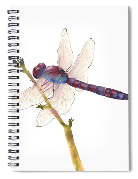 Burgundy Dragonfly  Spiral Notebook