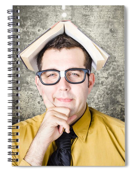 Business Man On Quest To Solve Problem Spiral Notebook