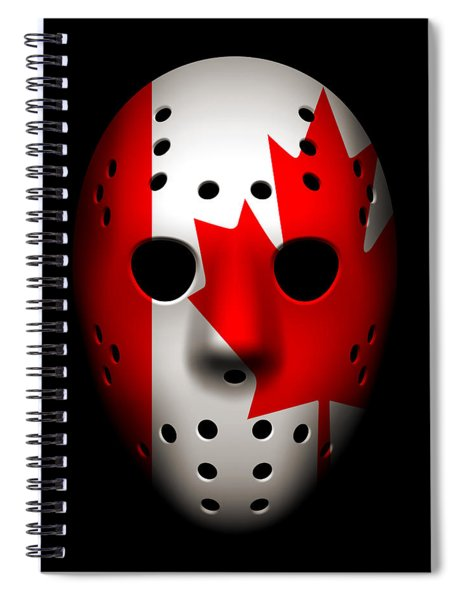 Canada Goalie Mask Spiral Notebook