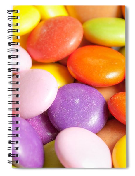 Candy Background Spiral Notebook