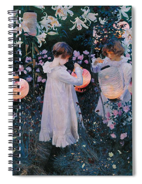 Carnation Lily Lily Rose Spiral Notebook