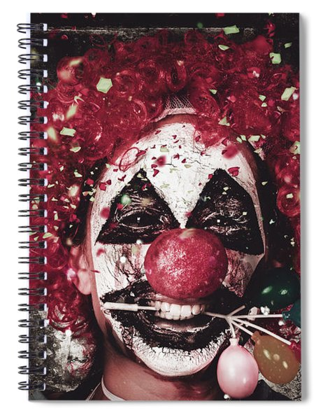 Carnival Clown With Balloon Cake Decoration Spiral Notebook