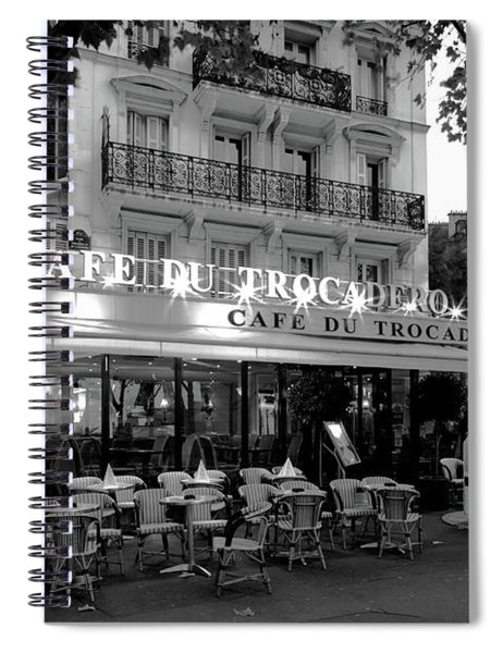 Chairs And Tables In A Restaurant Spiral Notebook