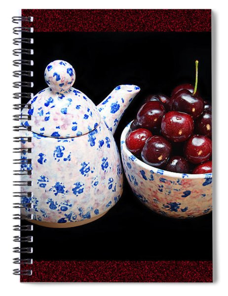 Cherries Invited To Tea 2 Spiral Notebook