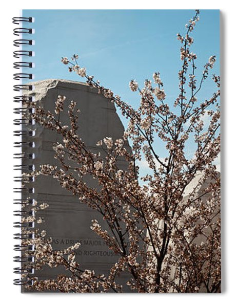 Cherry Trees In Front Of A Memorial Spiral Notebook