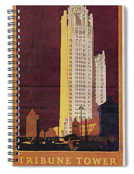Chicago Poster, 1925 Spiral Notebook