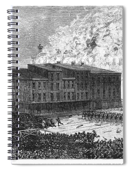 Cincinnati Riot, 1884 Spiral Notebook