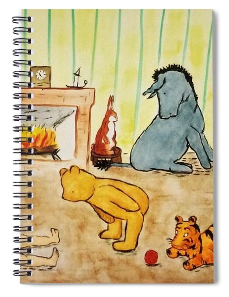 Classic Winnie The Pooh And Friends Spiral Notebook