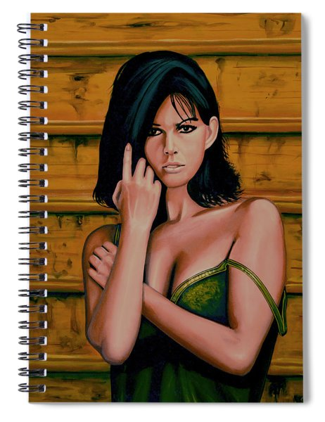 Claudia Cardinale Painting Spiral Notebook