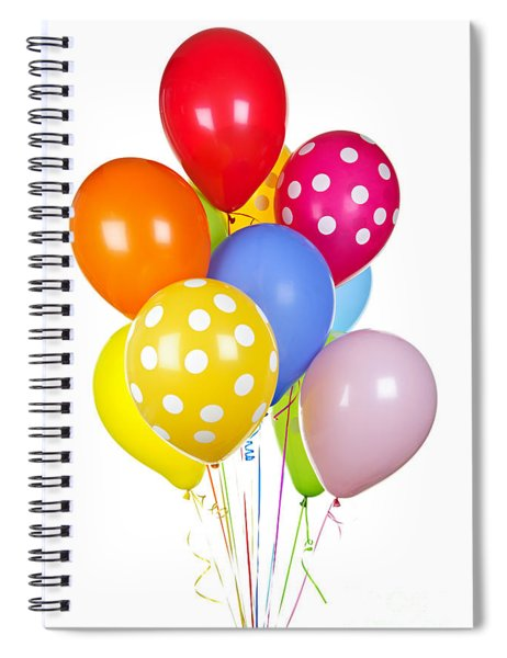 Colorful Balloons Spiral Notebook