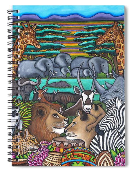 Colours Of Africa Spiral Notebook