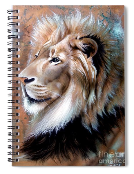 Copper King - Lion Spiral Notebook