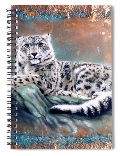 Copper Snow Leopard Spiral Notebook